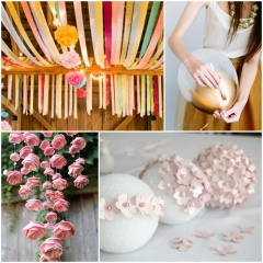 Create the perfect wedding set with crafts
