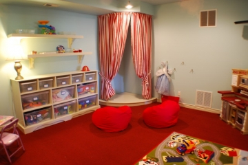 Turning the garage into a playroom